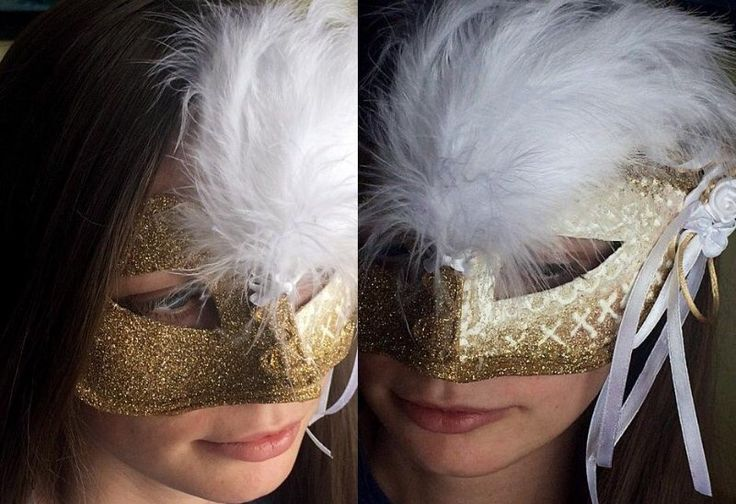 The gold carnival mask from my workshop.