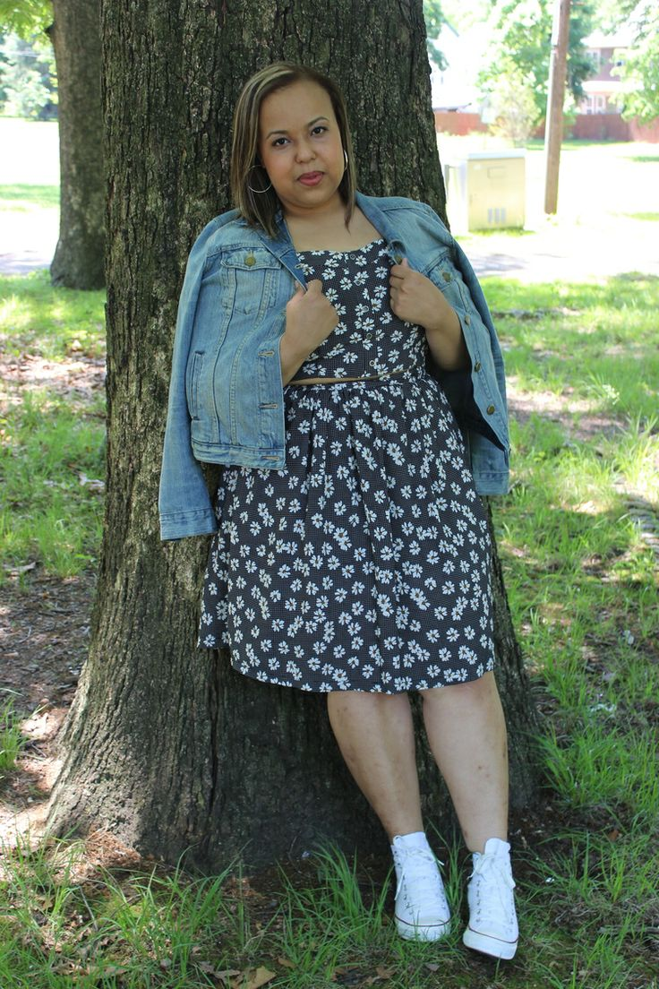 Basically looks like this dress denim jacket converse example - Converse And A Dress