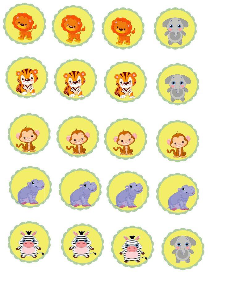 Safari Baby Shower Cake Pop Bibs