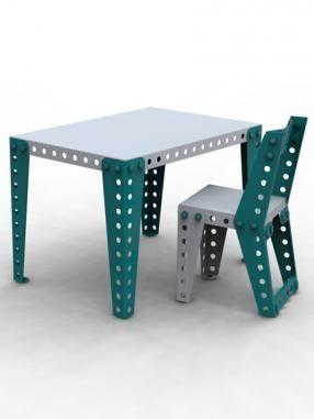 Meccano kids desk & chair