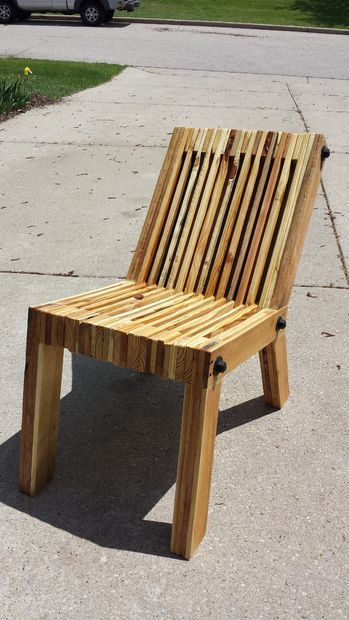 DIY Reclined Pallet Wood Chair Made with skill and design perspective. Excellent