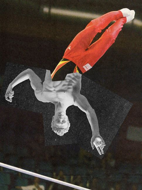 Jens Ullrich, Flieger Nr. 02 Taurus, 2011, Collage on Nettle 147 × 113cm