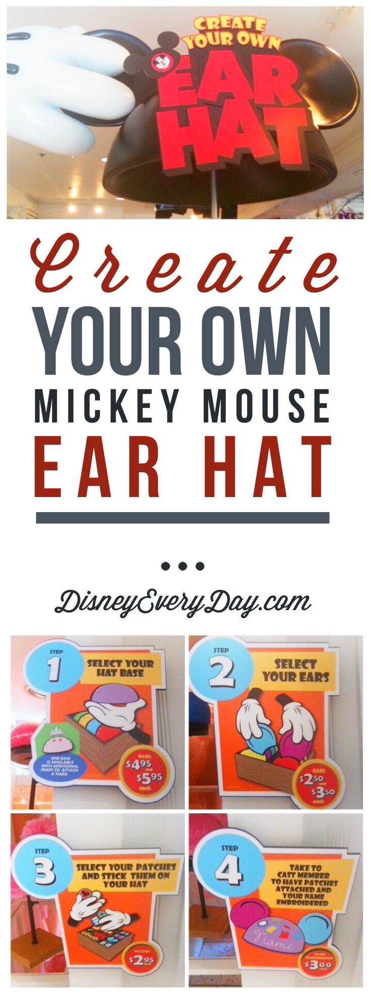 Create Your Own Mickey Mouse Ears                                                                                                                                                     More