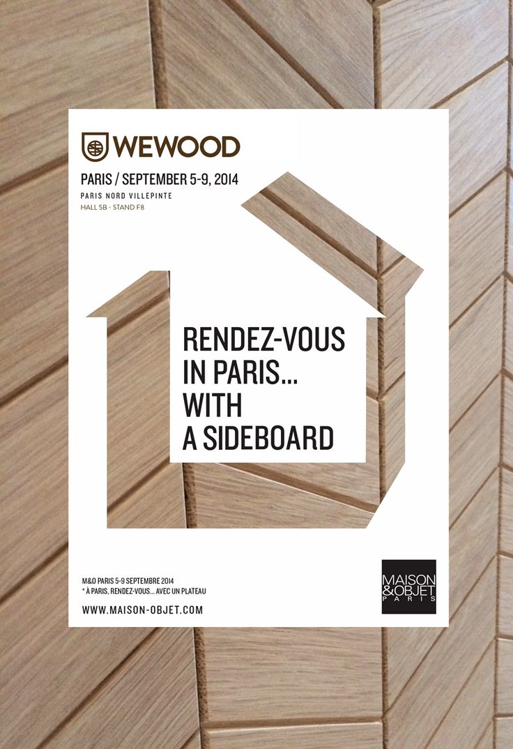 #M&O #Paris #September #2014. WEWOOD will present some new products. Visit us there.#sideboard #wood #tables #design #oak #walnut #poster #graphic