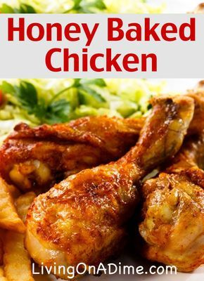 Make this Honey Baked Chicken Recipe in less than 5 minutes for less than $3 for the entire family! This is our family's favorite and it's easy to make!