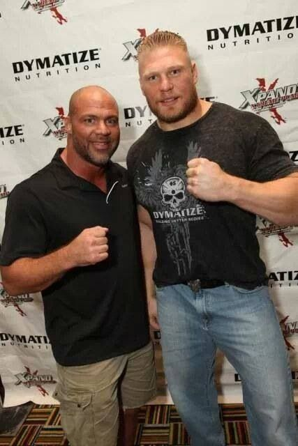 Kurt Angle and Brock Lesnar