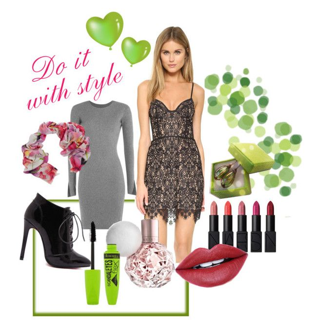 ...with style by artemisfantasy on Polyvore featuring For Love & Lemons, Alexander Wang, Bindya, NARS Cosmetics, Fiebiger and Rimmel