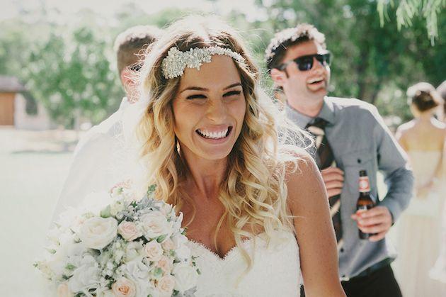 beautiful beaming bride