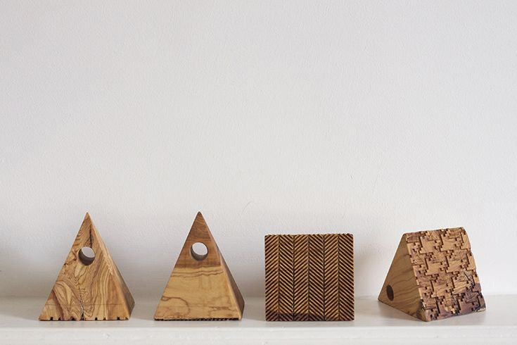 "The traditional quote ""bread and olive"" led STUDIOLAV into designing this set of stamps made out of solid olive wood.    Designer Baking is a respone to the initiative of Skoufa Gallery in Athens inviting designers to create and develop a contemporary version of ""folklore"", using olive wood as the main material."