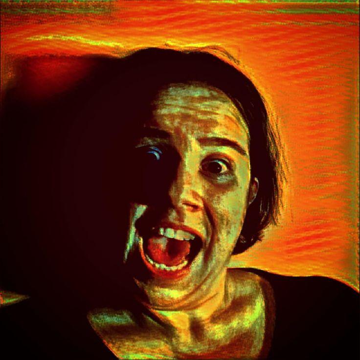 Esse filtro foi inspirado no O Grito do #EdvardMunch. E eu gosto demais dessa obra. # #Prisma