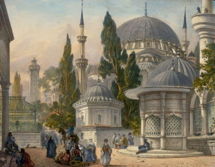 Şehzade Mosque, Istanbul, 1853.