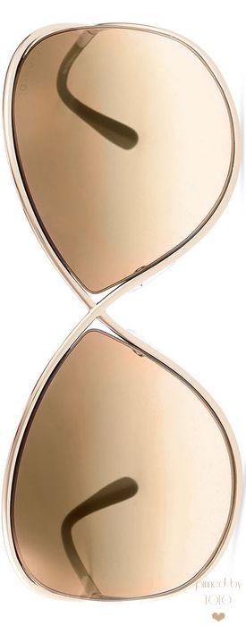 TOM FORD Miranda Wrap Sunglasses with Flash Lens | LOLO
