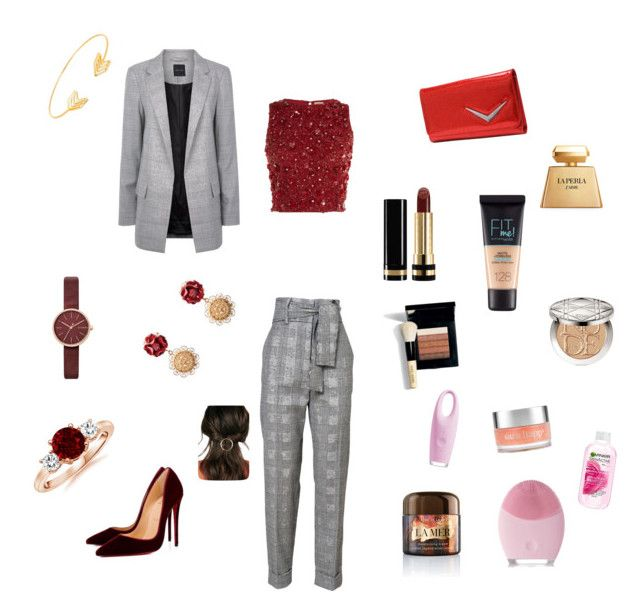 """""""Untitled #60"""" by portuguesegreeneyes on Polyvore featuring Lace & Beads, Christian Louboutin, Skagen, Dolce&Gabbana, Lord & Taylor, FOREO, La Mer, Garnier, Sara Happ and La Perla"""