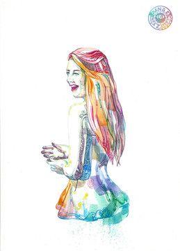 양윤님의 프로필 - 디지털 아트, 일러스트레이션  pattern , watercolor , line , art , illustration ,