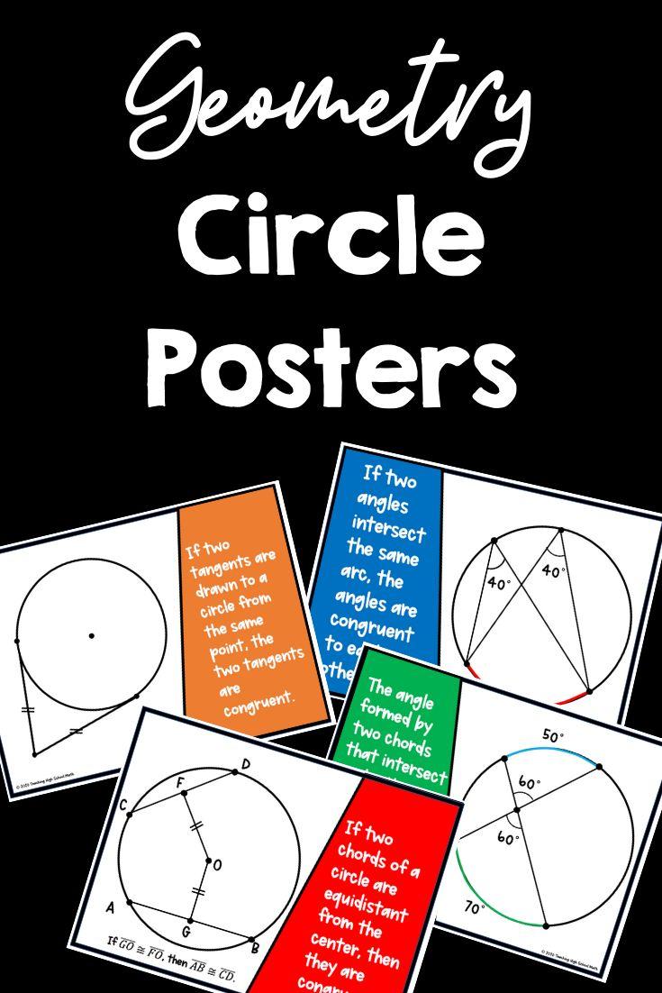 Geometry Circle Theorems Posters Circle theorems