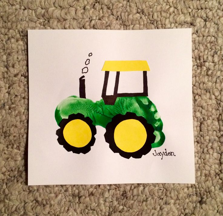 25 best ideas about footprint tractor on pinterest for Tractor art projects