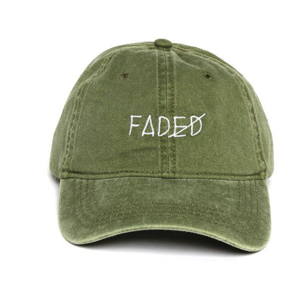 Faded Strapback (48 AUD) ❤ liked on Polyvore featuring accessories, hats, headwear, summer cap, cotton hat, visor cap, sun visor cap and 6 panel hat