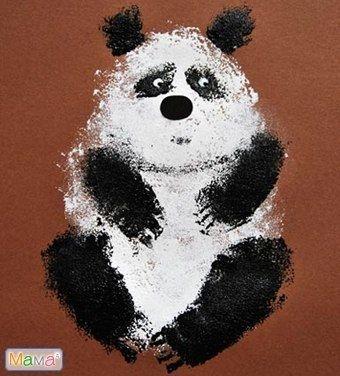 Рисуем панду губкой - Поделки с детьми | Деткиподелки