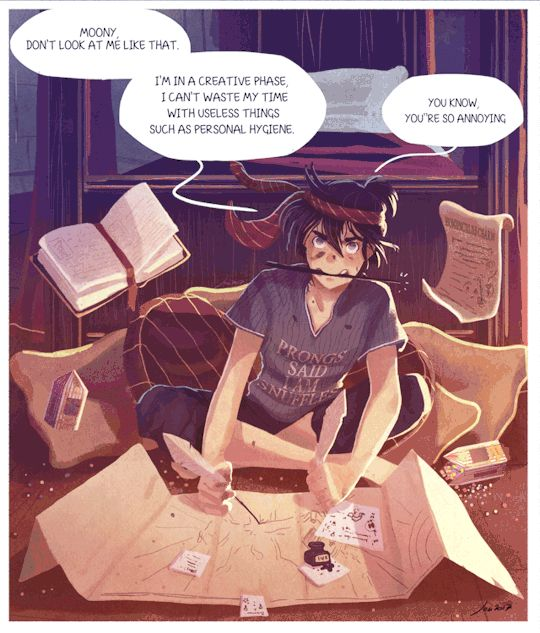 The Marauders - creating the map by Space Dementia gif