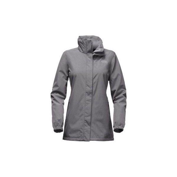 The North Face Women's Resolve Parka Coat ($130) ❤ liked on Polyvore featuring outerwear, coats, medium grey tweed, gray coat, tweed coats, grey coat, grey parka coat and grey tweed coat
