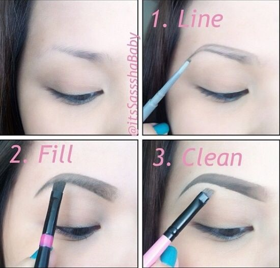 Image result for images of step by step Eyebrow makeup
