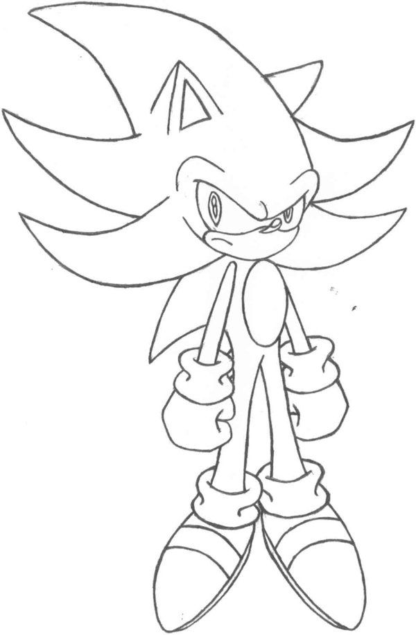 Darkspine Sonic Coloring Pages