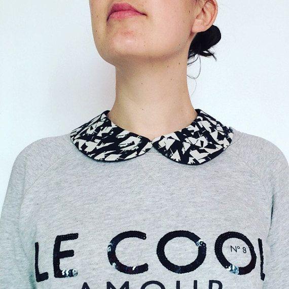 Col Claudine amovible et reversible en coton par MelleSimoneShop