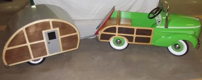 Pedal car and camper | 53: 1938 Gendron Woody Pedal Car