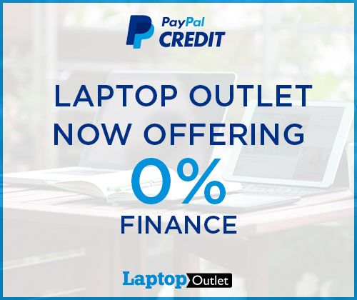 Laptop Outlet, UK Now Offering 0% Finance See more: http://www.laptopoutletblog.co.uk/paypal-credit/laptop-outlet-uk-now-offering-0-finance/