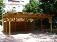 Carport idea off of 2nd story or storage we will eventually build in the back…