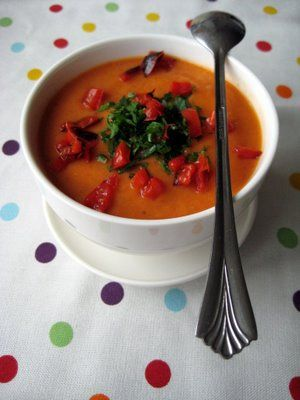 Roasted Red Pepper & Cauliflower Soup | Soups | Pinterest