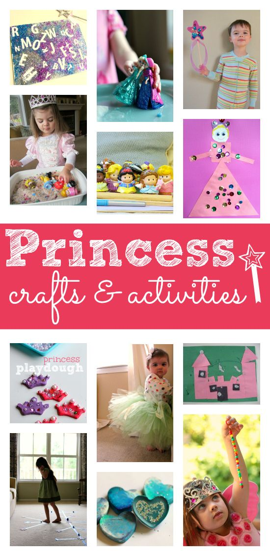 Princess activities for preschool - these are so cute, a great list for your next princess party too!