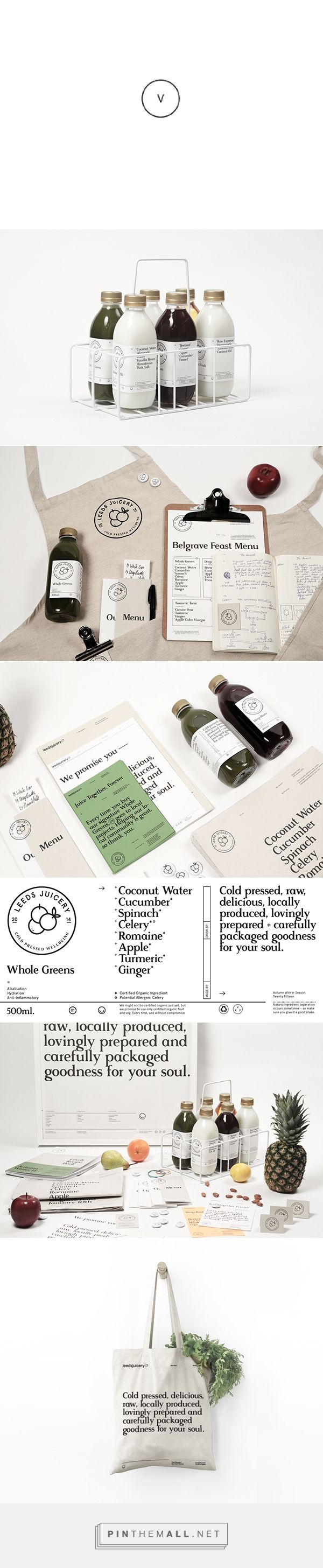 Leeds Juicery on Behance curated by Packaging Diva PD.