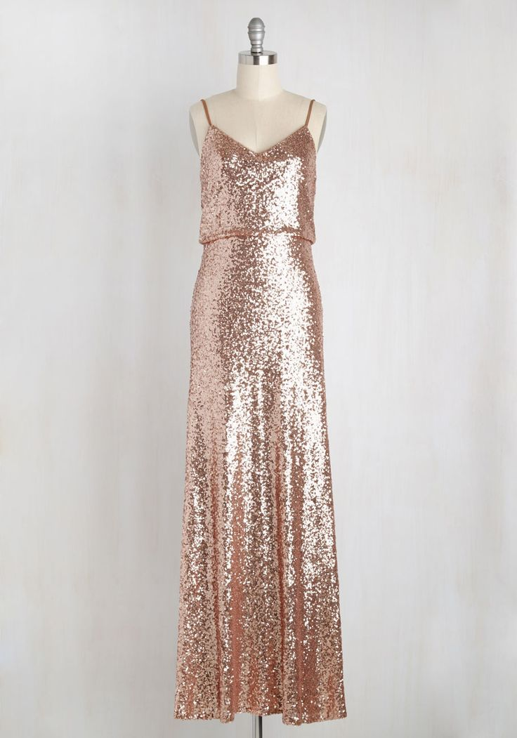 Dazzle be the Day Dress. All it takes is donning this sequined gown by Jenny Yoo to put your red carpet dreams well within reach! #bronze #prom…