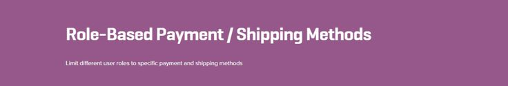 WooCommerce Role Based Payment Shipping Methods 2.0.9 Extension - Get Lot