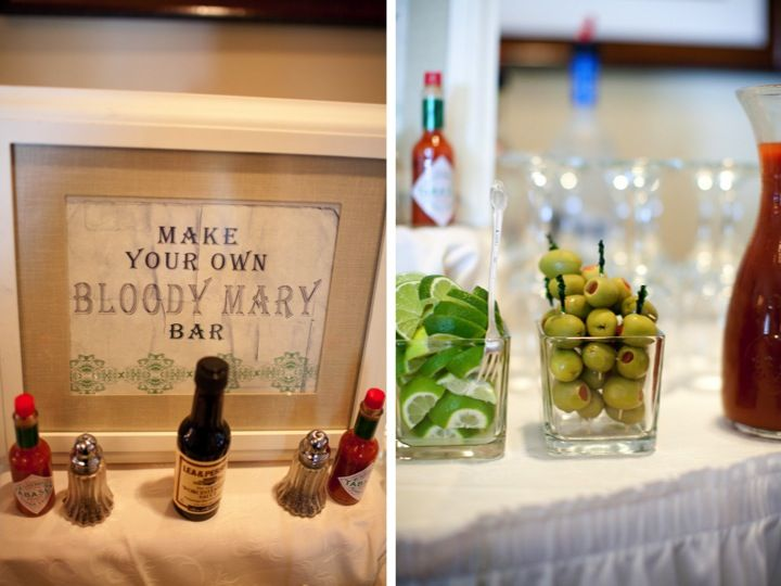 bloody mary barDinner, Brunches Wedding, Wedding Shower, S'More Bar, S'Mores Bar, Breakfast, Receptions Ideas, Mimosa Bar, Bloody Mary Bar