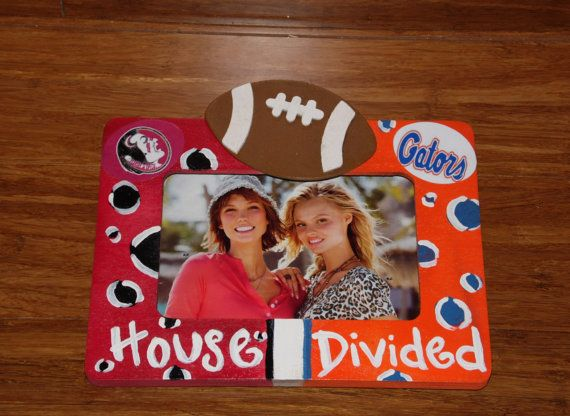 house divided picture frame uf fsu gators by mamaduckcreation