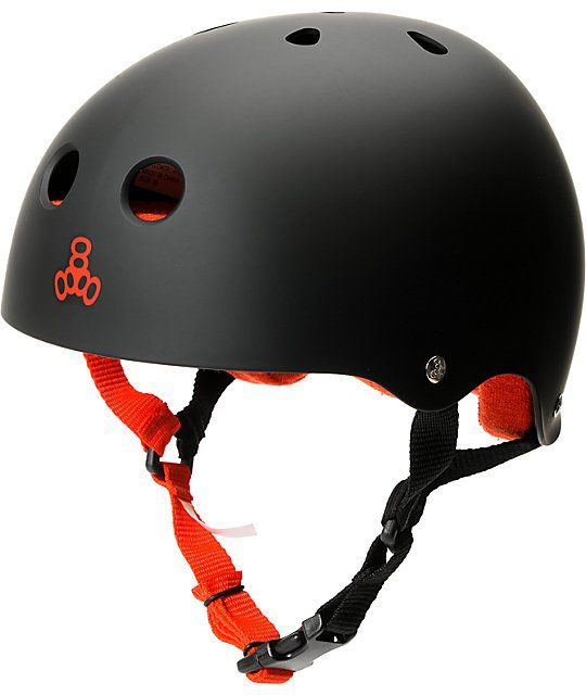 Safe your brain and keep your parents worry-free with the Triple Eight matte black Brainsaver skateboard helmet. This classic style helmet features an EVA dual layered foam lining for protection, tough ABS shell, multi-impact design for added protection a