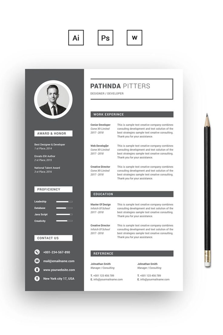 26 best Resume & CV Templates images on Pinterest