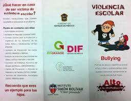 Resultado de imagen para material para hacer un triptico sobre el bullying