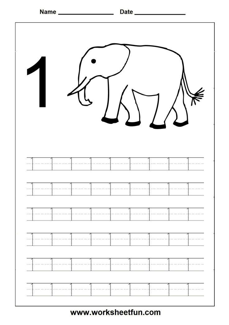 tracing numbers worksheets School Pinterest Count