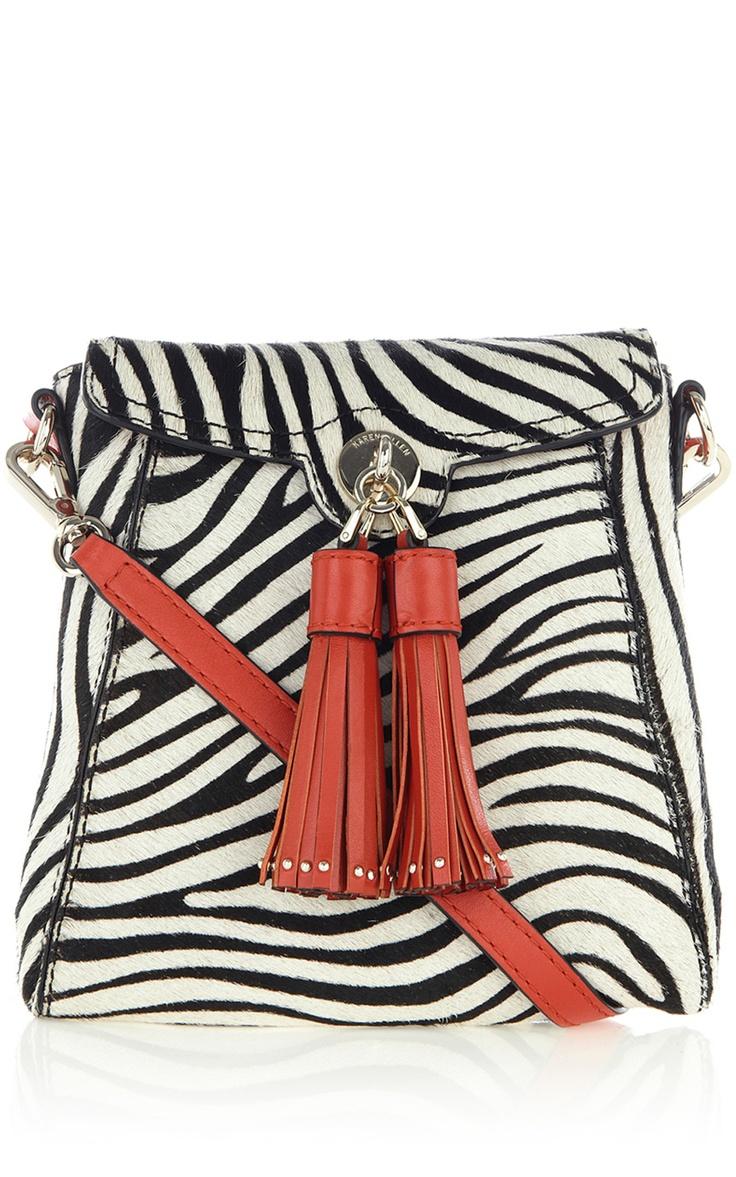 Zebra print satchel by Karen Millen