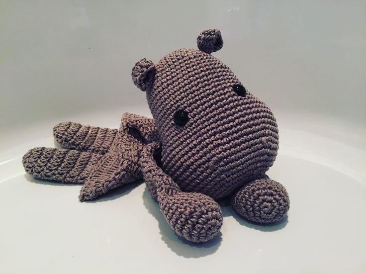 Gehaakte lappenpop nijlpaard