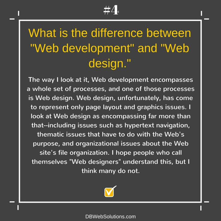 "What is the difference between ""Web development"" and ""Web design.""  #WebDevelopment #WebDesign #Graphics #Website #Web #Development #Design"