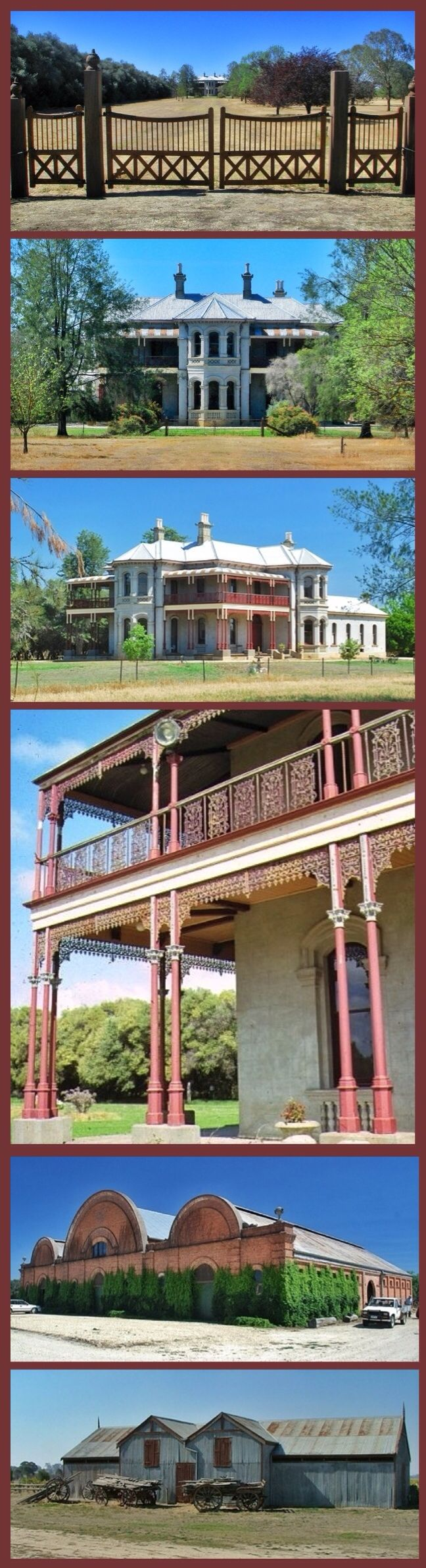 Fairfield Homestead, Browns Plains, is an Italianate mansion built in 1889 for vigneron George Francis Morris to the designs of architects Gordon and Gordon. A ballroom extension was added in c1896. Morris was one of the greatest of Victoria's nineteenth century vignerons; in 1904 his property, Fairfield, was described as the country's largest vineyard and winery complex, with 700 acres of vines, extensive cellars and a staff of over 100. Morris was the third son of a Bristol Draper and…