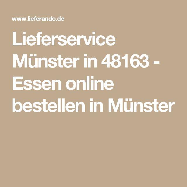 Lieferservice Münster in 48163 - Essen online bestellen in Münster