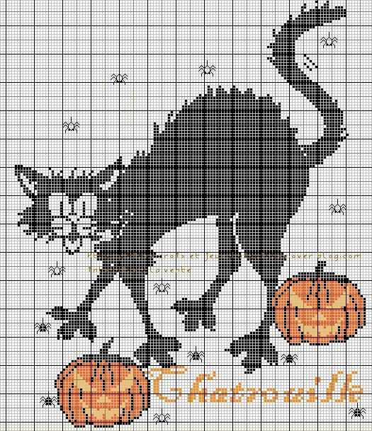 287 best images about halloween cross stitch on pinterest - Grilles point de croix gratuites dmc ...