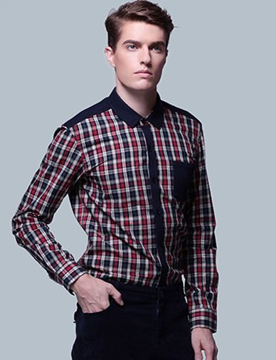 Classic Checked Shirt with Patch Pocket Trim-cool style, vintage shirt, men's shirt, men's fashion, stylish clothes