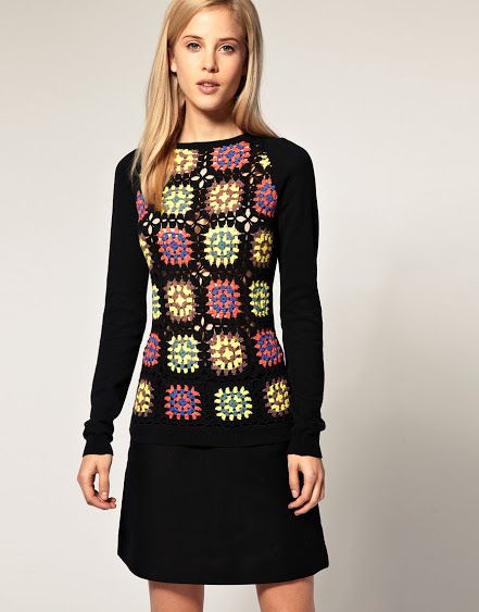 Crochet Sobresaliente: Joven Square abuelita.
