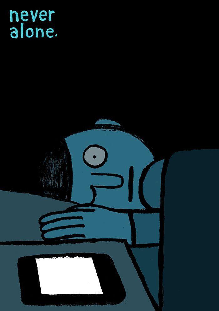 Eu, tu e os nossos telemóveis. 20 ilustrações que o vão fazer rir de si próprio
